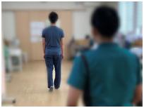 インソール作成2 理学療法士による問診と身体チェック