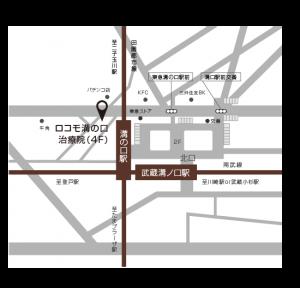 ロコモ溝の口治療院までの地図